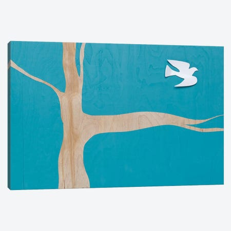 Lone Dove On Blue I Canvas Print #KYO170} by Kent Youngstrom Art Print