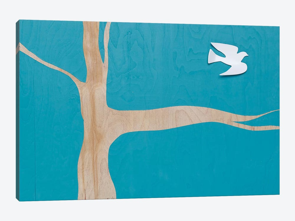 Lone Dove On Blue I 1-piece Canvas Print