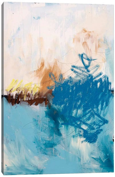 Blue Water Canvas Art Print