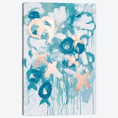 Blue XO Canvas Print #KYO172} by Kent Youngstrom Canvas Print