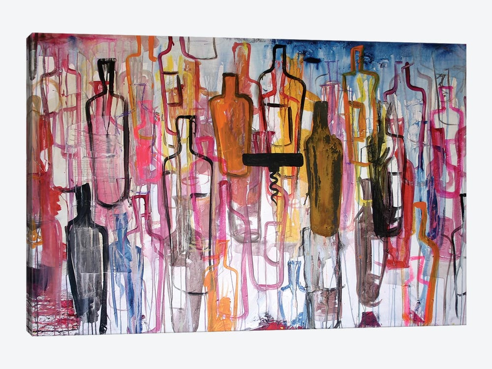 Bottles by Kent Youngstrom 1-piece Canvas Art