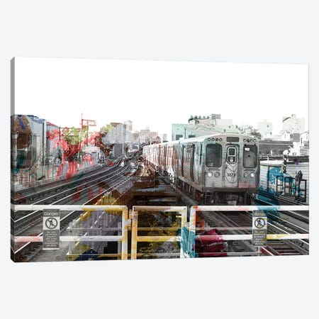 Cubs El Track Canvas Print #KYO19} by Kent Youngstrom Canvas Print