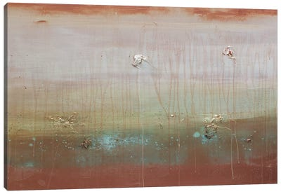 Copper Waves Cresting Canvas Art Print