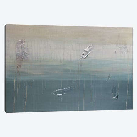 Lilli Pads And Last Night's Rain Canvas Print #KYO208} by Kent Youngstrom Art Print