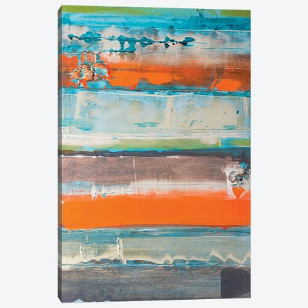Orange Is The New Stripe 3-Piece Canvas #KYO246} by Kent Youngstrom Canvas Art