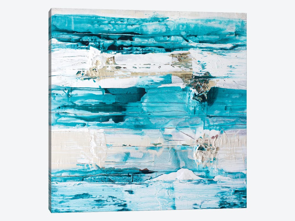 Striped Blue by Kent Youngstrom 1-piece Canvas Art Print