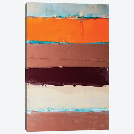 Orange Is The New Stripe I Canvas Print #KYO270} by Kent Youngstrom Canvas Artwork