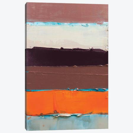Orange Is The New Stripe II Canvas Print #KYO271} by Kent Youngstrom Canvas Artwork