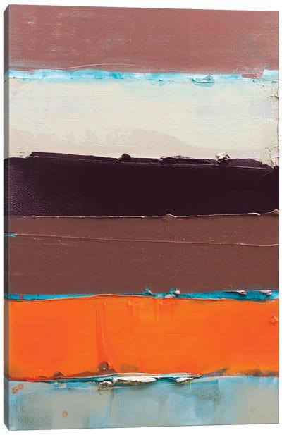 Orange Is The New Stripe II Canvas Art Print