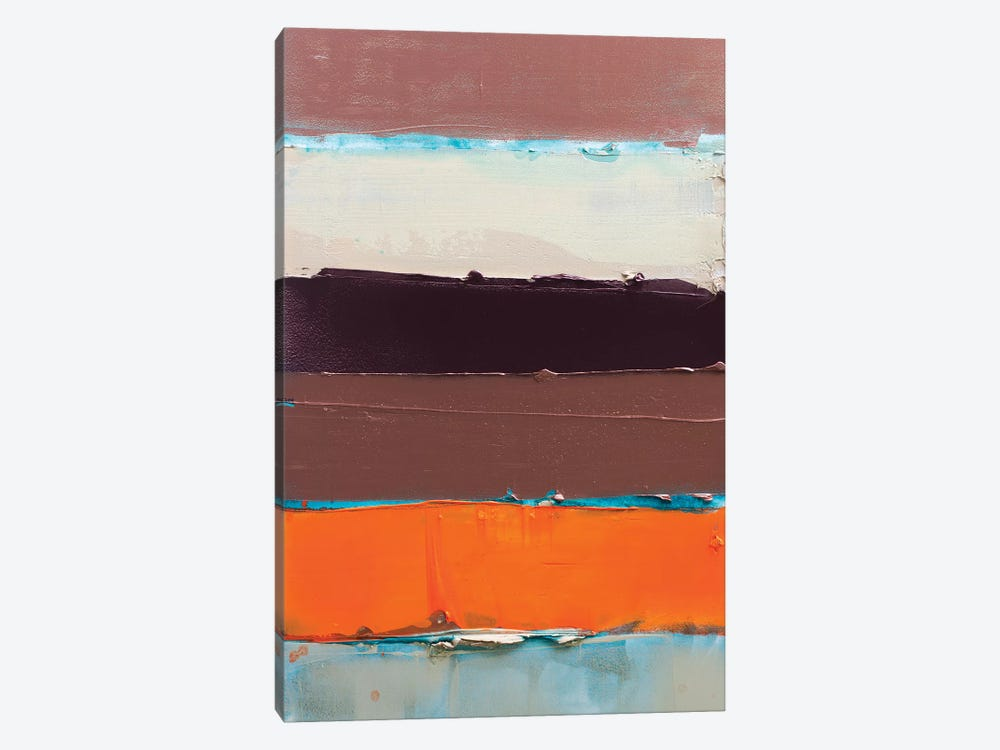 Orange Is The New Stripe II by Kent Youngstrom 1-piece Canvas Art