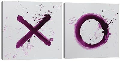 X's and O's Diptych Canvas Art Print