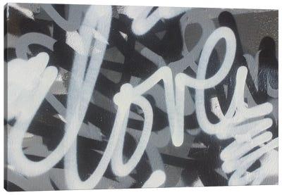 Black & White Love Canvas Art Print