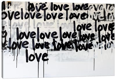 Messy Love Canvas Art Print