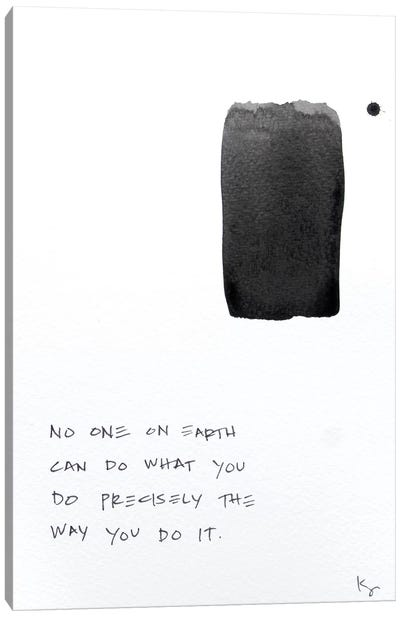 No One On Earth Canvas Art Print