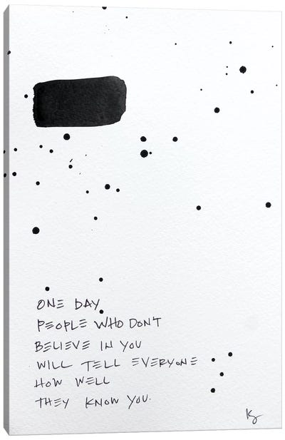 One Day Canvas Art Print
