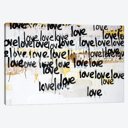 Gold Love On Repeat Canvas Print #KYO365} by Kent Youngstrom Canvas Art Print