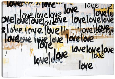 Gold Love On Repeat Canvas Art Print