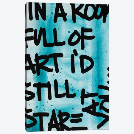 In A Room Blue Canvas Print #KYO377} by Kent Youngstrom Canvas Artwork