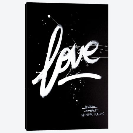 Love Never Fails Black II Canvas Print #KYO394} by Kent Youngstrom Canvas Art