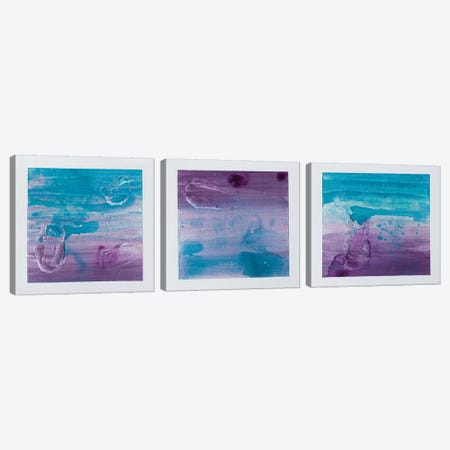 Purple Sunset Triptych Canvas Print Set #KYO3HSET001} by Kent Youngstrom Canvas Art