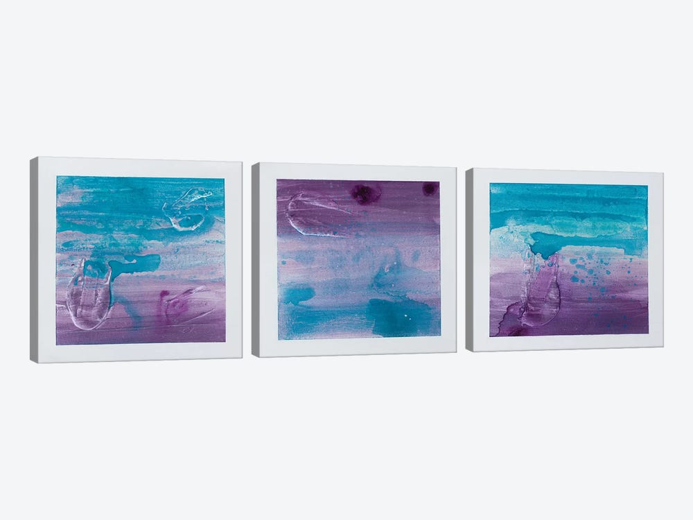 Purple Sunset Triptych by Kent Youngstrom 3-piece Canvas Art