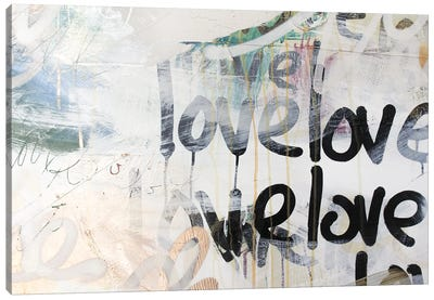 Gold Love II Canvas Art Print