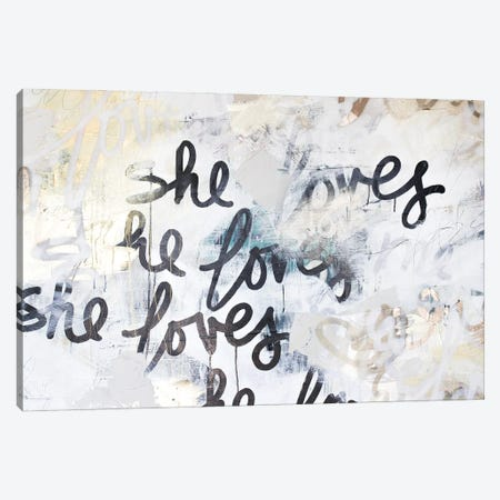 Gold Love Scribble Canvas Print #KYO403} by Kent Youngstrom Art Print