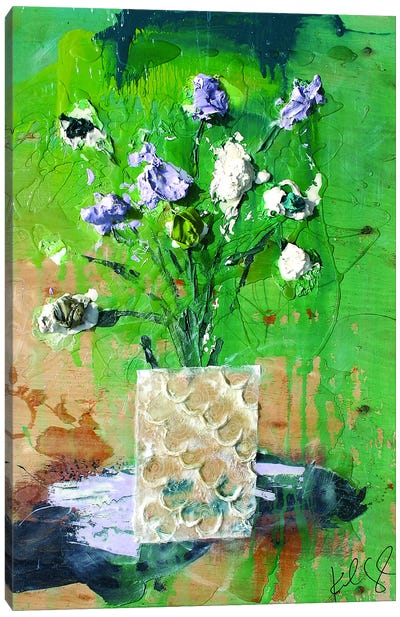 Dim Flowers Canvas Art Print