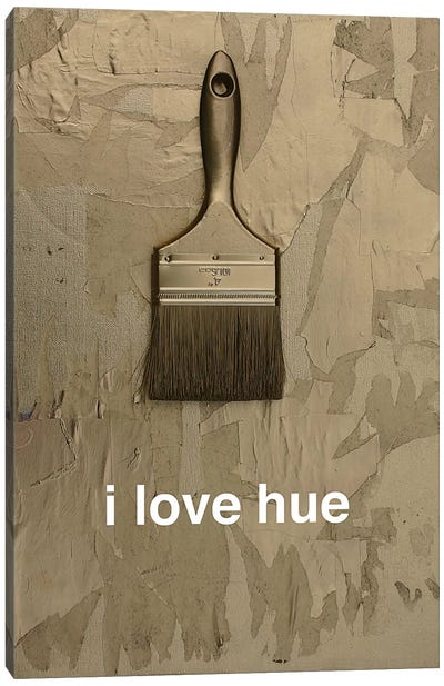 I Love Hue In Gold Canvas Print #KYO59