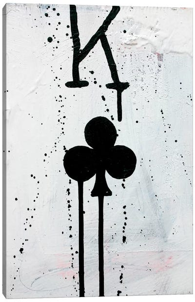 King Of Clubs Canvas Print #KYO63