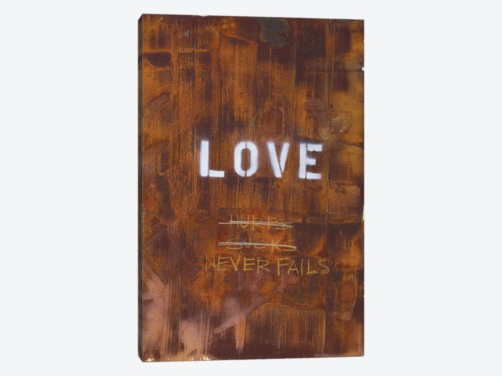 Love Hurts...Sucks…Never Fails In Rust by Kent Youngstrom 1-piece Canvas Wall Art
