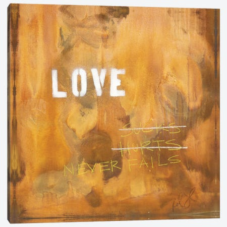 Love Sucks…Hurts…Never Fails Canvas Print #KYO75} by Kent Youngstrom Canvas Wall Art