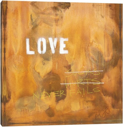 Love Sucks…Hurts…Never Fails Canvas Print #KYO75