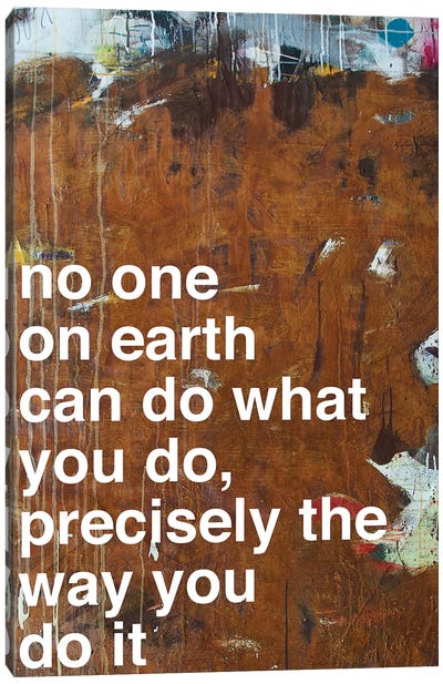 No One I Canvas Print #KYO81