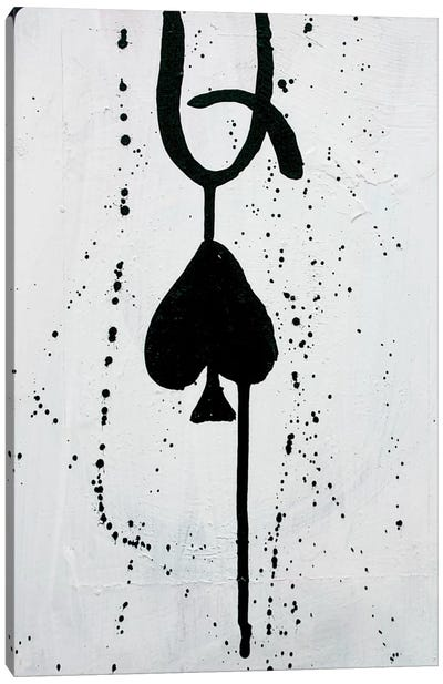 Queen Of Spades Canvas Art Print