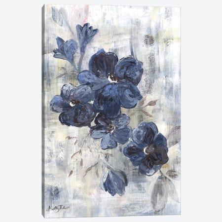 Blue Cottage Flowers Canvas Print #KYT1} by Kelley Talent Canvas Art