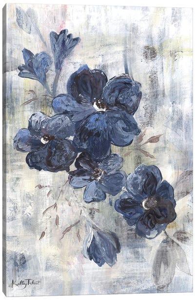 Blue Cottage Flowers Canvas Art Print
