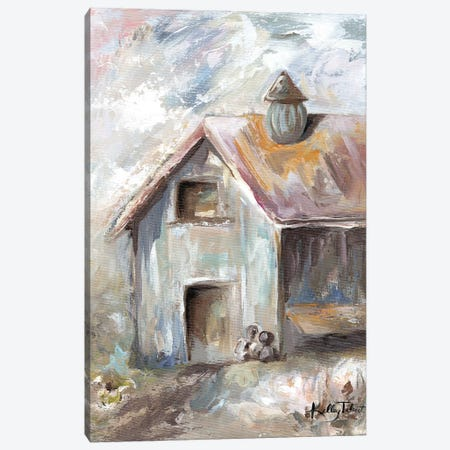 Grandma's Milk Barn Canvas Print #KYT6} by Kelley Talent Canvas Art Print