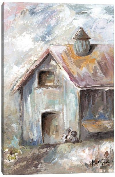 Grandma's Milk Barn Canvas Art Print