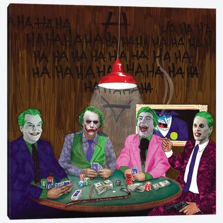 Batman Jokers Wild Canvas Print #KYW10} by Kyle Willis Canvas Art Print