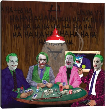 Batman Jokers Wild Canvas Art Print