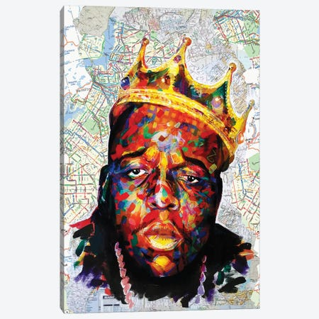 Biggie Map Style 3-Piece Canvas #KYW12} by Kyle Willis Art Print