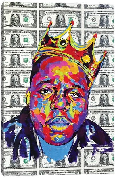 Biggie Smalls Dolla Dolla Bill Canvas Art Print