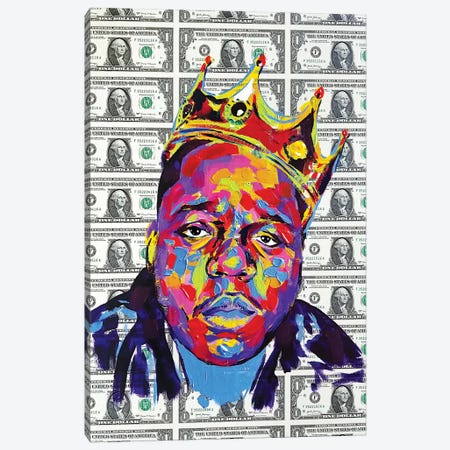 Biggie Smalls Dolla Dolla Bill 3-Piece Canvas #KYW13} by Kyle Willis Canvas Art Print