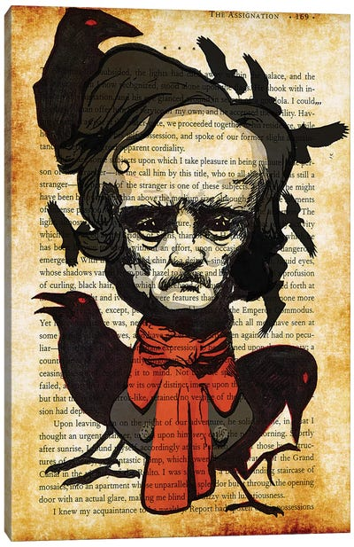 Edgar Allan Poe Canvas Art Print