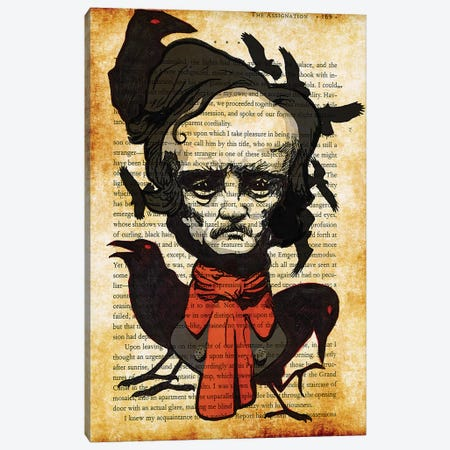 Edgar Allan Poe Canvas Print #KYW19} by Kyle Willis Canvas Print