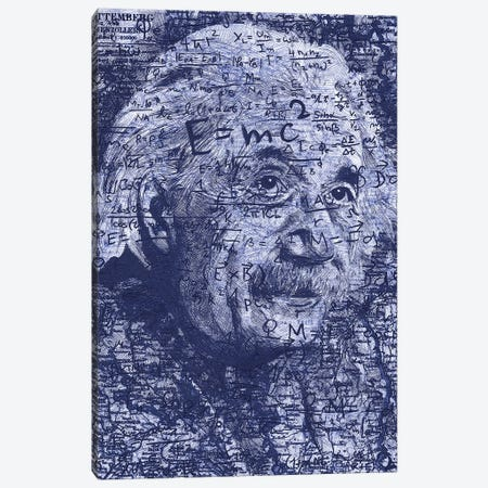 Albert Einstein Canvas Print #KYW1} by Kyle Willis Art Print
