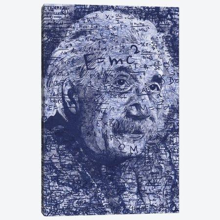 Albert Einstein Canvas Print #KYW1} by Kyle Willis Art Print