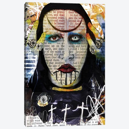 Marilyn Manson Abstract Nightmare Canvas Print #KYW23} by Kyle Willis Canvas Art