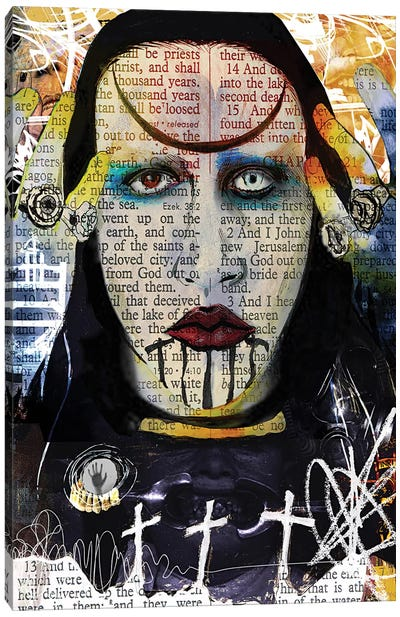 Marilyn Manson Abstract Nightmare Canvas Art Print